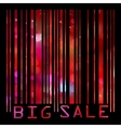 Colorful big sale bar code eps 8 vector