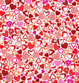 Valentine background different hearts seamless vector