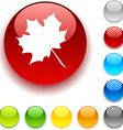 Autumn button vector