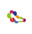 Shoe with colorful circles vector