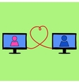 Doodle style love in internet vector