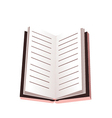 Opened notebook isolated on white vector
