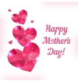 Happy mother day love symbol pink origami heart on vector
