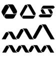 Black ribbon symbols vector