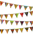 Bunting flags with ethnic motifs vector