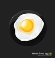 Fried egg vector