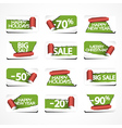 Set of christmas paper stickers for stock sales vector