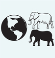 Elephant and planet vector