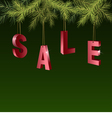 Christmas sale red tags over green background vector