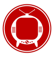 Tv button vector
