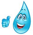 Water drop cartoon vector