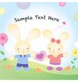 Valentines rabbit cartoon vector