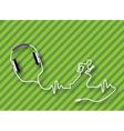 Headphones runner vector