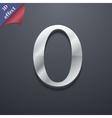 Number zero icon symbol 3d style trendy modern vector
