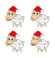A funny christmas sheep vector