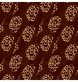 Chocolate doodle seamless pattern like lace vector