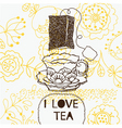 Teatime background vector
