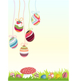 Happy easter background eggs vector