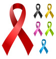 Ribbon in various colors vector