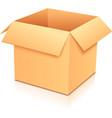 Yellow empty paper box vector