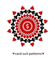 Card suit ornament with a dollar sign vector