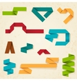 Retro paper banners and ribbons vector