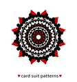 Card suit conceptual ornament vector