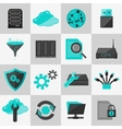 Database icons flat vector
