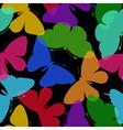Beautiful seamless background of butterflies vector