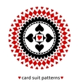 Card suit geometric ornament with a heart vector