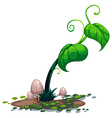 A growing green plant vector