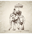 Elephant with man vector