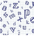 Alphabet seamless background vector