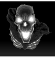 Black skeleton in the dark vector