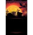 Night cemetery vector