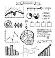 Set of hand drawn doodle infographics vector