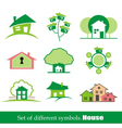 Set of symbols home house vector