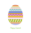 Greeting card with easter egg vector