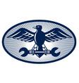 Eagle wings tool symbol vector