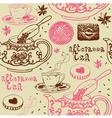 Vintage afternoon tea background vector