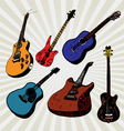 Guitars colorful vector