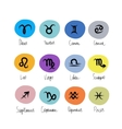 Zodiac signs collection for your design vector