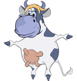 Dancing cow vector