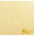 Bicycle and paper vector