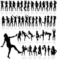 Girl sexy in black silhouette vector