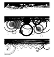 Grunge black banners vector
