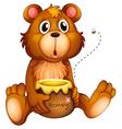 Cartoon honey bear vector