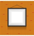 Frame for paintings or photographs on the brick vector