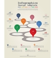 Timeline infographic template with icons vector