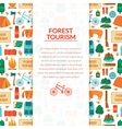 Camping equipment background vector